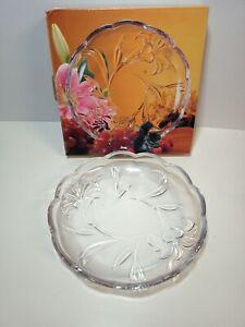 SOGA Glass Japan LILY medium glass presentation dish boxed 22cm diameter Unused