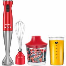 Comfee Electric Hand Immersion Blender, 4-in-1 Mixer With 500ml Food Chopper