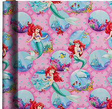 ARIEL THE LITTLE MERMAID WRAPPING PAPER ROLL GIFT WRAP ANY OCCASION 20 SQ. FEET