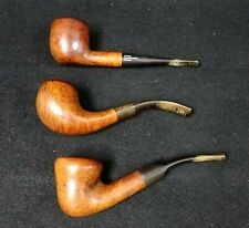 3 Vintage Briar Smoking Pipes American - Everyman - Made in London England