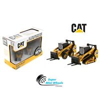 CAT 1:64 Skid Steer Loader & Compact Track Loader with accessories