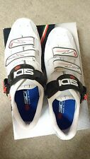 sidi genius 5 white road shoe shoes cycling clipless size 44 carbon