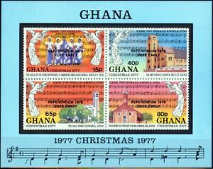 Ghana 1978 Referendum Mini Sheet SGMS834 V.F MNH