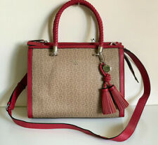 NEW GUESS HAVENHURST COLLECTION MOCHA RED CONVERTIBLE SATCHEL CROSSBODY BAG SALE