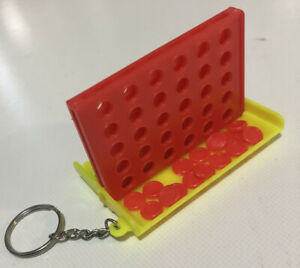 Keychain Size Mini Connect 4 Four Line Up In A Row Handy Board Game Family