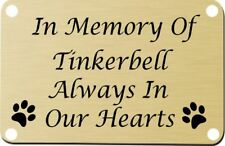 Personalised Pet Memorial Plaque Dog Cat Animal Engraved 120mm x 60mm custom