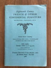 18TH C FRENCH & OTHER FURNITURE Oct 12 1968 Parke Bernet Auction Catalog Prices