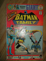 BATMAN FAMILY # 1 MAN-BAT BATGIRL GRELL 68-PAGE  50c 1975 BRONZE AGE DC COMIC BK