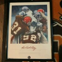 Cleveland Browns THE FIRST PLAY 1999 Cowboys Art POSTER Print Framed 19x25 NFL