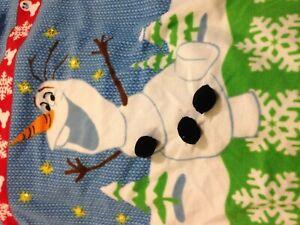 Frozen Olaf Ugly Pajamas Fleece Sleep Set PJs Christmas from disney dvd/blu-ray!