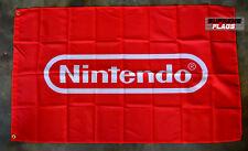 Nintendo Flag Banner 3x5 ft Video Game Gaming Wall Garage Red