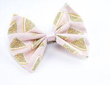 Fairy Bread Pastel Pink Print Fabric Medium Hair Bow