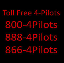 800 Toll Free Numbers -  800-4 PILOTS and 888-4 PILOTS and 866-4 PILOTS