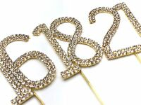 Diamante Diamond Rhinestone Cake Pick Topper 6cm for Birthday Anniversary Party