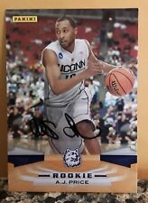 2009-10 Panini Inscriptions Indiana Pacers Basketball Card #346 A.J. Price AUTO