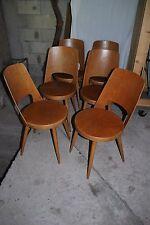 6 chaises Baumann 1960 bar bistrot comptoir guéridon table vintage modele Mondor