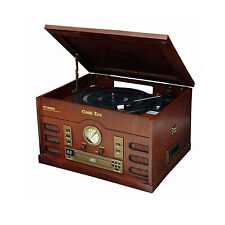 NEW HYUNDAI HDA-3100 Antique LP Turntable Audio Radio CD Cassette Record Player