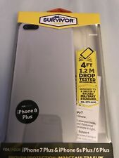 Griffin Survivor Clear Slim Case Apple iPhone 6/7/8 Plus clear GB42315-2 NEW