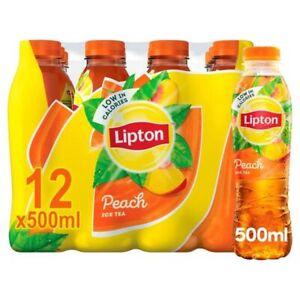 Lipton Peach Ice Tea - 12 x 500ml DRK152 Restaurant Takeaway Chip Shop