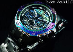 Invicta Men's 52mm PRO DIVER SCUBA Chrono COMBAT Black IRIDESCENT Abalone Watch