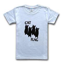 Black Flag Tshirt Cat Flag Tee Shirt Death Metal Rock Punk Music Funny Top New