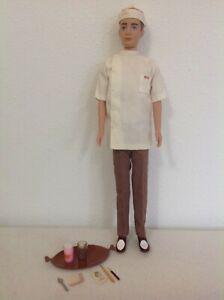 Vintage Ken Fountain Boy w/Accessories #1407 plus display doll (1964-65)