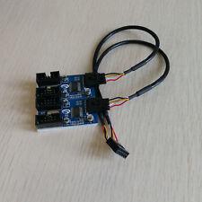PC case internal 9pin USB 1 to 4 port Splitter chipset Enhanced version extender