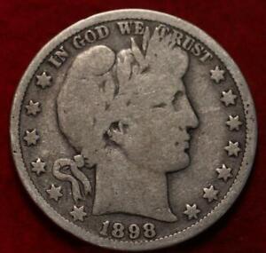 1898-O New Orleans Mint Silver Barber Half Dollar