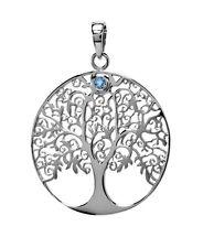 ciondolo albero della vita argento con un PICCOLI Topazio Blu M Symbolik
