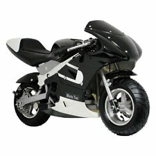 Gas Powered Bike Mototec Mini Scooter Toy Black Trike Helmet Pocket Motorcycle