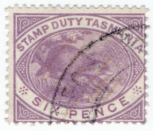 (I.B) Australia - Tasmania Revenue : Stamp Duty 6d