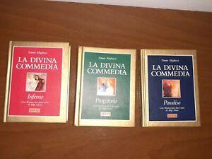 Divina Commedia edizione tascabile in 3 volumetti con illustrazioni