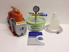 2 QT- Glass Vacuum Chamber +3 CFM 220-V Vacuum Pump Australian Plug