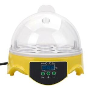 7-Egg Mini Practical Poultry Electric Incubator Adjustable Temperature Yellow
