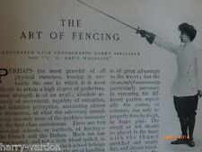 Art of Sword Fencing Old Antique Photo Article 1904 Chapelles Courtenays Magrini