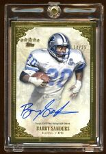 BARRY SANDERS AUTO ONCARD GOLD 14/25 2012 TOPPS 5 STARS  AMAZING PULL  BEAUTIFUL