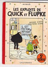 Hergé. Quick et Flupke 5e série. 1951. 4e plat B5.