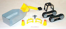 Lego Tipper Bed Digger Bucket 7633 Truck RollCage Bulldozer Tread