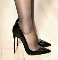US Women's Men's Stilettos Pumps Pointy Toe Patent Leather High Heels Sexy Shoes