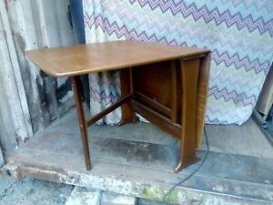 Drop leaf dining table used