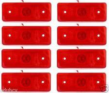 8 piezas 12v LED Trasero Rojo Intermitente Lateral Bombilla Camión Trailer Bus