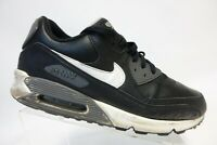 NIKE Air Max 90 Black Sz 12 Men Leather Athletic Sneakers