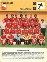 FICHE CARD: 1977-78 FC Cologne Fußball-Club Köln RFA PHOTO EQUIPE FOOTBALL 1970s