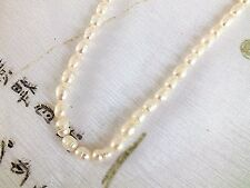 "19"" WHITE PEARL 40cm NECKLACE WEDDING NEW YEAR CHINESE WOMEN HEN PARTY A5"