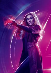 Scarlet Witch Marvel Avenger Superhero Wall Art Poster  / Canvas Picture