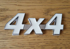 White/Silver Chrome 3D 4X4 Metal Emblem Badge for VW Amorak Golf Plus Caravelle
