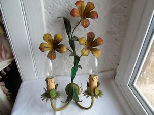 French tole wall light sconce nicely vintage lovely detailed