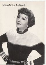 Claudette Colbert Garmai Verlag Postkarte + P 4800