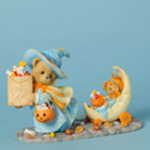 "Cherished Teddies-""CONNIE & ANNIE"" GOODIES FOR GOOD LITTLE GHOULS -BNIB -LE/Ret"