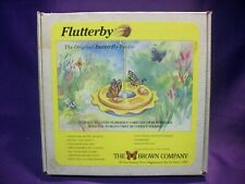 FLUTTERBY THE ORIGINAL BUTTERFLY FEEDER THE BROWN COMPANY HANG OR POST MOUNT